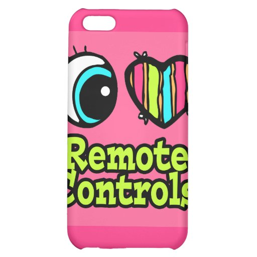 Bright Eye Heart I Love Remote Controls iPhone 5C Cases
