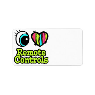 Bright Eye Heart I Love Remote Controls Address Label