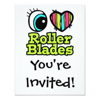 Bright Eye Heart I Love Roller Blades Card