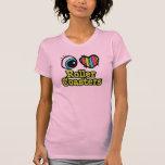 Bright Eye Heart I Love Roller Coasters Tee Shirts