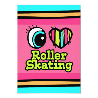 Bright Eye Heart I Love Roller Skating Card