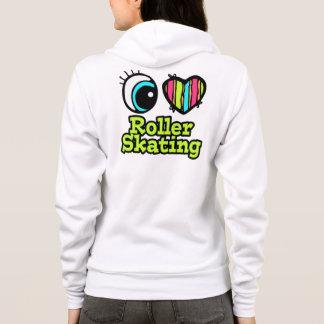 Bright Eye Heart I Love Roller Skating Hoodie
