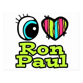 Bright Eye Heart I Love Ron Paul Postcard