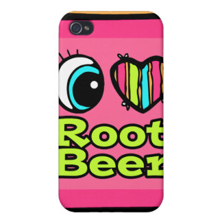 Bright Eye Heart I Love Root Beer iPhone 4/4S Cover