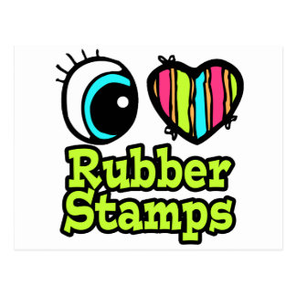 Bright Eye Heart I Love Rubber Stamps Postcards
