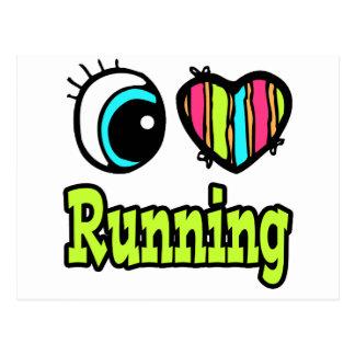 Bright Eye Heart I Love Running Postcard
