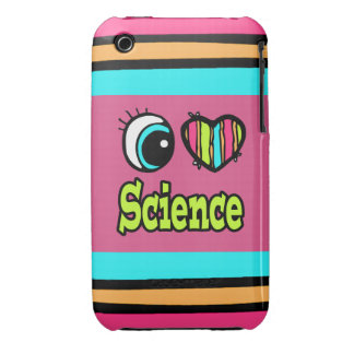 Bright Eye Heart I Love Science iPhone 3 Case-Mate Cases