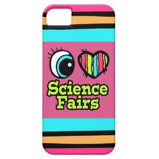 Bright Eye Heart I Love Science Fairs iPhone 5 Cases