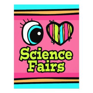 Bright Eye Heart I Love Science Fairs Full Color Flyer
