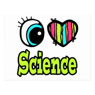 Bright Eye Heart I Love Science Postcard