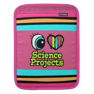 Bright Eye Heart I Love Science Projects iPad Sleeves