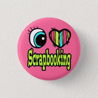 Bright Eye Heart I Love Scrapbooking Pinback Button
