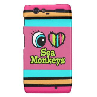 Bright Eye Heart I Love Sea Monkeys Motorola Droid RAZR Cases