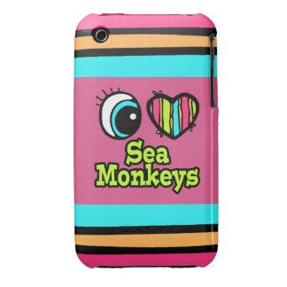 Bright Eye Heart I Love Sea Monkeys Case-Mate iPhone 3 Cases