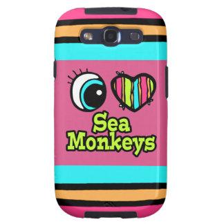 Bright Eye Heart I Love Sea Monkeys Galaxy SIII Case