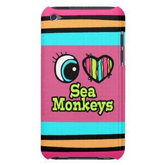 Bright Eye Heart I Love Sea Monkeys iPod Case-Mate Cases