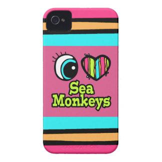 Bright Eye Heart I Love Sea Monkeys iPhone 4 Case