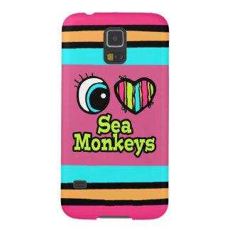 Bright Eye Heart I Love Sea Monkeys Galaxy S5 Cover