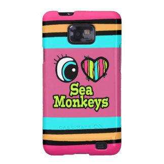 Bright Eye Heart I Love Sea Monkeys Samsung Galaxy S2 Cases