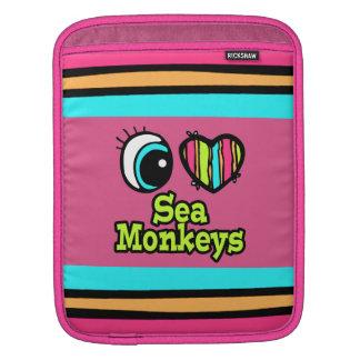 Bright Eye Heart I Love Sea Monkeys iPad Sleeve