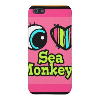 Bright Eye Heart I Love Sea Monkeys iPhone 5 Case