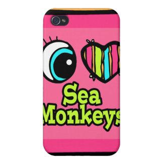 Bright Eye Heart I Love Sea Monkeys iPhone 4/4S Covers