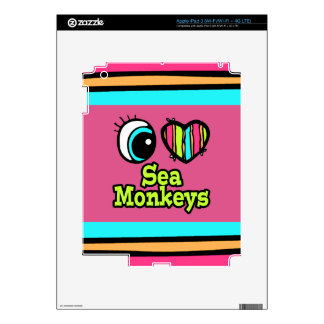 Bright Eye Heart I Love Sea Monkeys Skins For iPad 3