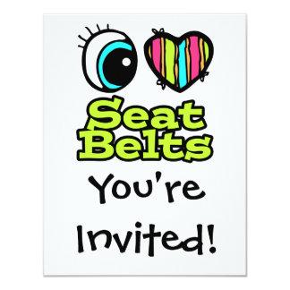 Bright Eye Heart I Love Seat Belts Card