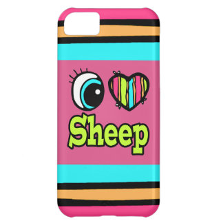 Bright Eye Heart I Love Sheep Case For iPhone 5C