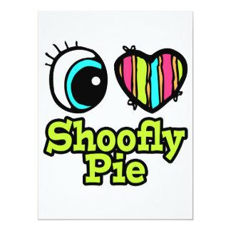 """Bright Eye Heart I Love Shoofly Pie 6.5"""" X 8.75"""" Invitation Card"""