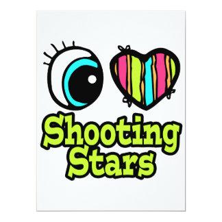 Bright Eye Heart I Love Shooting Stars Custom Invites