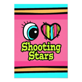 "Bright Eye Heart I Love Shooting Stars 4.5"" X 6.25"" Invitation Card"