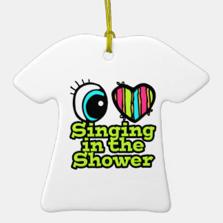 Bright Eye Heart I Love Singing in the Shower Christmas Tree Ornament