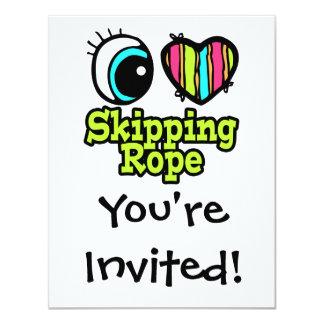 Bright Eye Heart I Love Skipping Rope Card