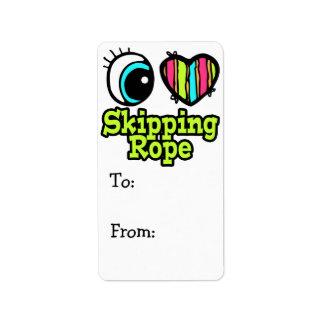 Bright Eye Heart I Love Skipping Rope Label