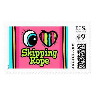 Bright Eye Heart I Love Skipping Rope Postage