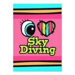 Bright Eye Heart I Love Skydiving Custom Invite
