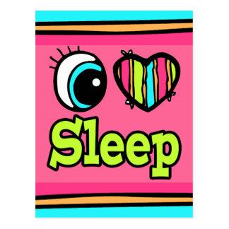 Bright Eye Heart I Love Sleep Postcard