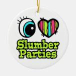 Bright Eye Heart I Love Slumber Parties Ceramic Ornament