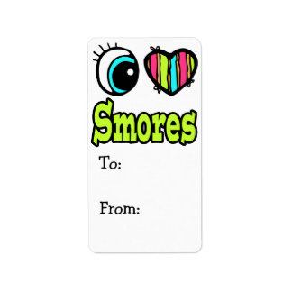 Bright Eye Heart I Love Smores Label