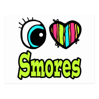 Bright Eye Heart I Love Smores Postcard