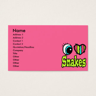 Bright Eye Heart I Love Snakes Business Card
