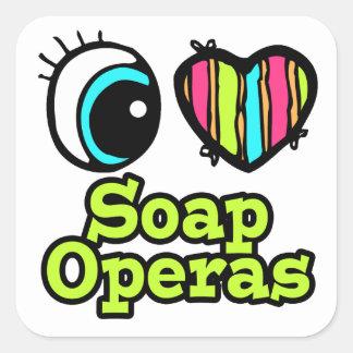 Bright Eye Heart I Love Soap Operas Stickers