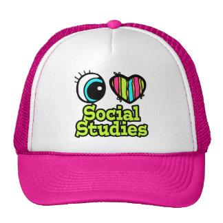 Bright Eye Heart I Love Social Studies Hat