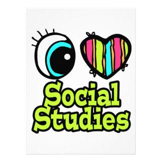 Bright Eye Heart I Love Social Studies Custom Invitation