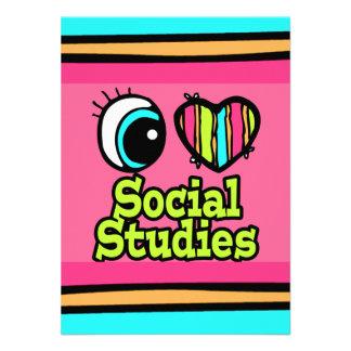 Bright Eye Heart I Love Social Studies Invite