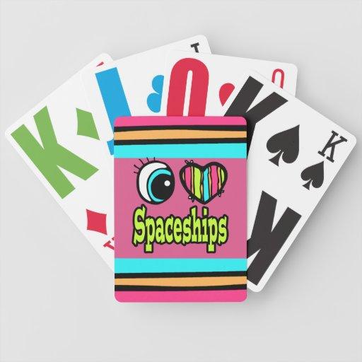 Bright Eye Heart I Love Spaceships Bicycle Card Decks