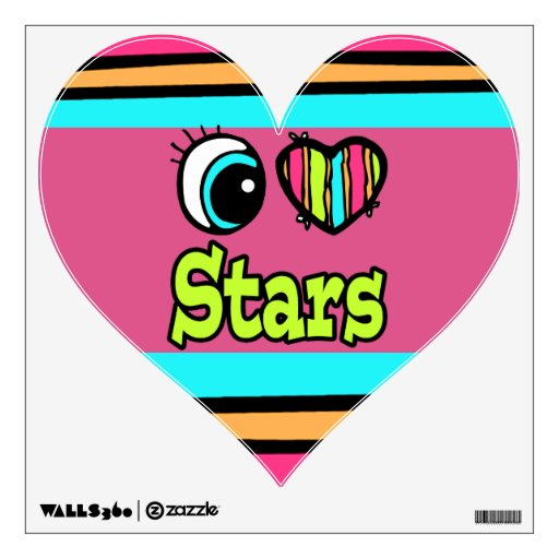 Bright Eye Heart I Love Stars Wall Graphics