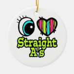 Bright Eye Heart I Love Straight As Ornaments