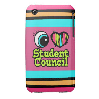 Bright Eye Heart I Love Student Council iPhone 3 Case-Mate Cases